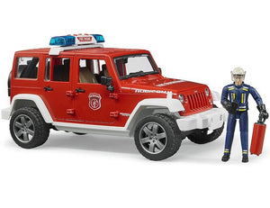B02528 BRUDER JEEP WRANGLER UNLIMITED RUBICON FIRE DEPARTMENT AND FIGURE