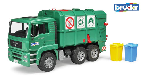 B02753 BRUDER MAN TGA RECYCLING LORRY IN GREEN