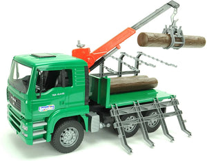 B02769 BRUDER MAN TIMBER TRUCK WITH LOADING CRANE