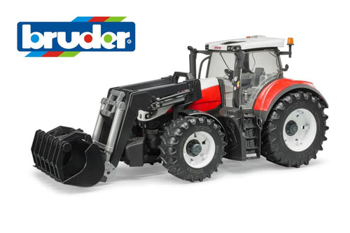 B03181 Bruder Steyr 6300 Terrus Cvt Tractor With Front Loader Tractors And Machinery (1:16 Scale)