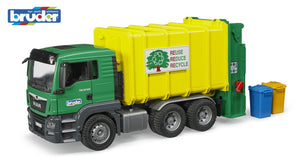 B03764 BRUDER MAN TGS REFUSE TRUCK IN GREEN