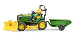 B62104 JOHN DEERE LAWN TRACTOR AND TRAILER