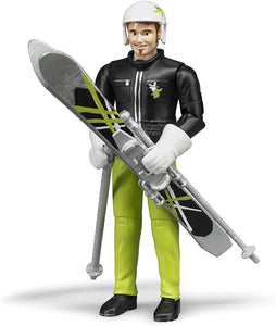 B60040 BRUDER SKIER WITH ACCESSORIES