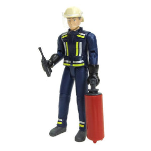 B60100 BRUDER FIREMAN WITH EXTINGUISHER