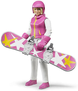 B60420 BRUDER SNOWBOARDER WITH ACCESSORIES