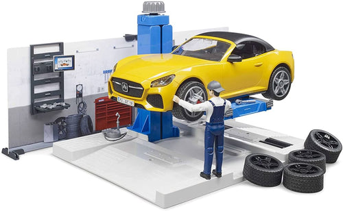 B62110 BRUDER CAR SERVICE WORKSHOP SET