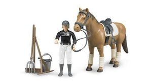 B62505 BRUDER RIDING SET WITH FIGURE AND HORSE