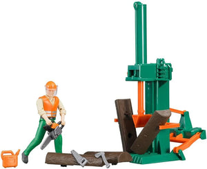 B62650 BRUDER FORESTRY SET WITH FIGURE