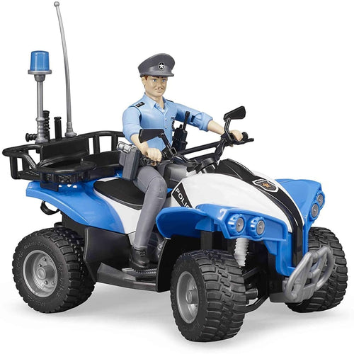 B63010 BRUDER POLICE QUAD WITH POLICEMAN AND ACCESSORIES
