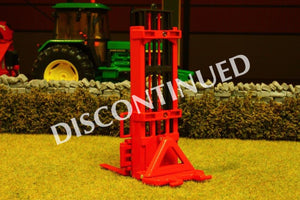 Bev011 Bevro Forklift Attachment In Red - Discontinued Tractors And Machinery (1:32 Scale)