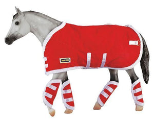 BR3946 Breyer Blanket and Shipping Boots in Red