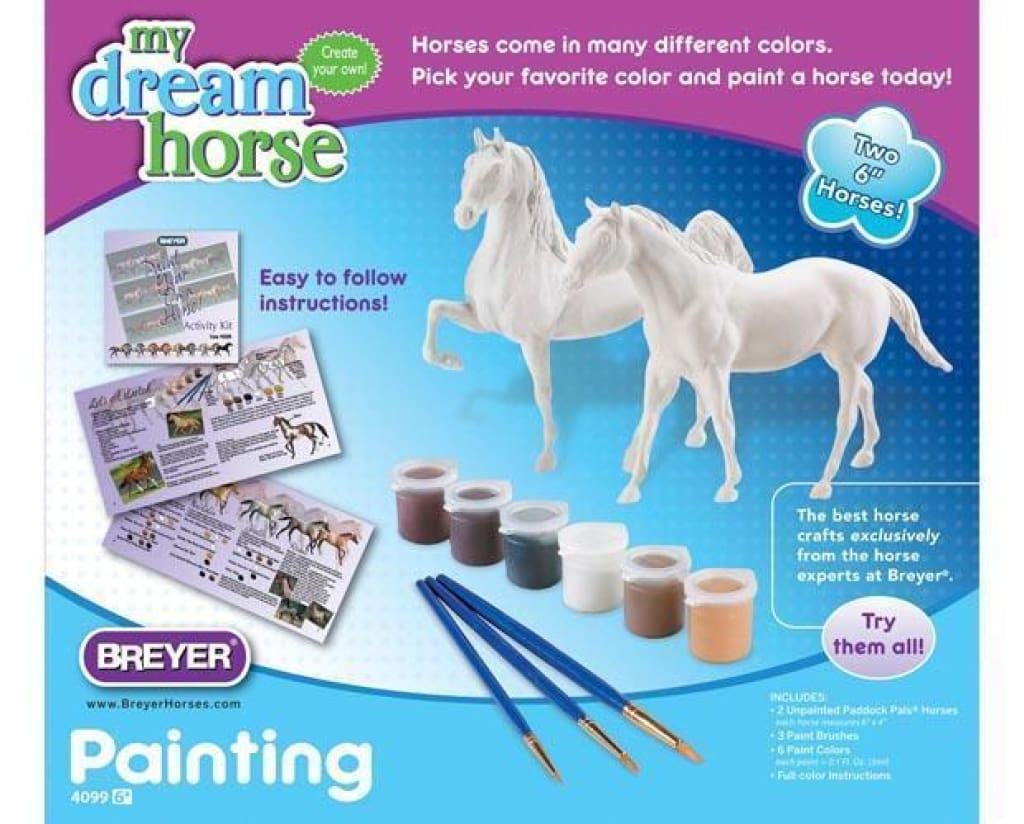 BR4099 Breyer My Dream Horse Paint Your Own Horse Set - Quarter Horse and Saddlebred