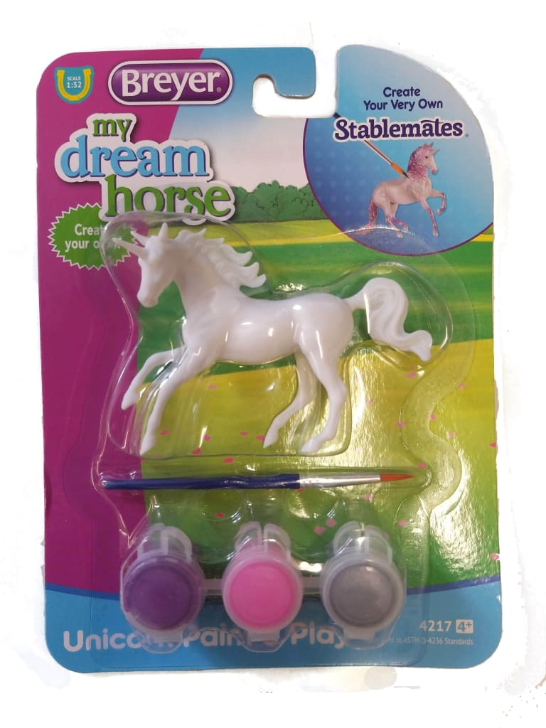 BR4217-3 Breyer Unicorn Paint and Play Set