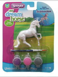 BR4217-1 Breyer Unicorn Paint and Play Set