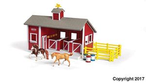 Br59197 Breyer Stablemates Red Stable Set (1:32 Scale) ** 10% Off Equestrian Department (All Scales)