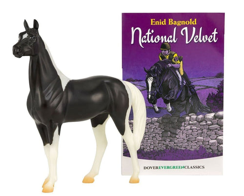 BR6180 NATIONAL VELVET HORSE WITH STORY BOOK FREEDOM SERIES