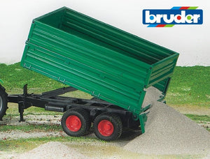 B02010 Bruder High sided (removable) Twin axled Tipping Trailer