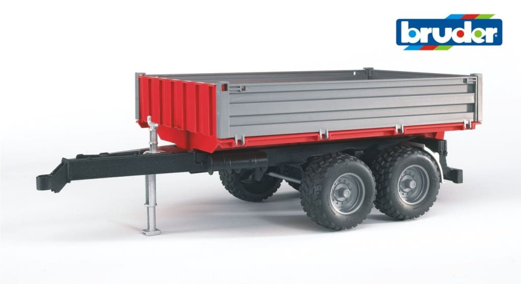 B02019 Bruder Drop-sided Tipping Trailer