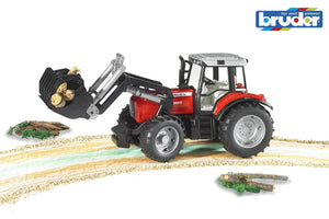 B02042 Bruder Massey Ferguson 7480 Tractor With Front Loader Discontinued Tractors And Machinery