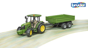 B02108 BRUDER JOHN DEERE 5115M TRACTOR WITH TIPPING TRAILER