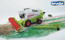 Load image into Gallery viewer, B02120 Bruder 1.20 Scale Claas Lexion 480 Combine Harvester + Header Trailer