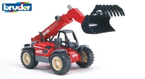 B02125 Bruder Manitou Telescopic Loader Without Accessories Shown (Just Bucket And Grab) Tractors