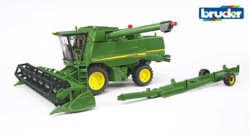 B02132 Bruder John Deere T670i Combine Harvester with Header Trailer