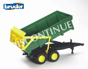 B02210 Bruder Tipping Trailer in Green