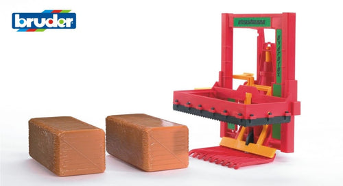B02333 Bruder Silage Block Cutter with 2 Silage blocks