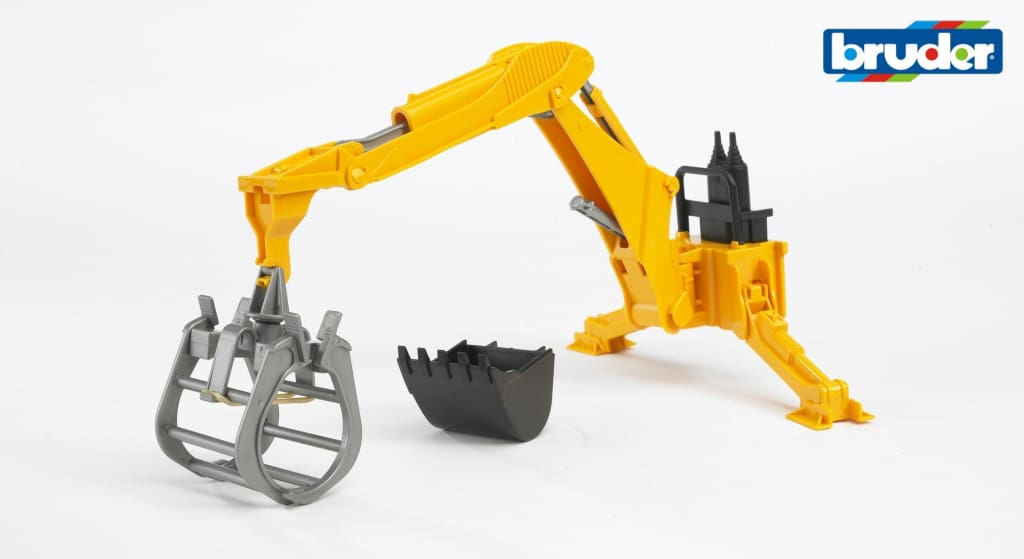 B02338 Bruder Rear Mounted Digger with Bucket and Grab