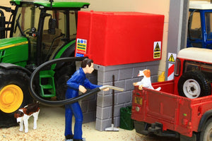 BT3055 Farm Yard Diesel Tank in Red (with hose and nozzle)
