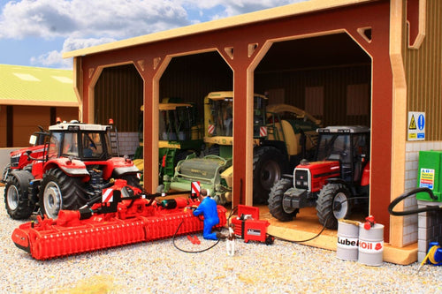 Bt5000 Tractor & Implement Shed With Free Set Of Brushwood Agri Barrels! Farm Buildings Stables