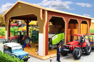 Bt6000 Big Bale Shed With Free Pallet Of Bale Wrap! Farm Buildings & Stables (1:32 Scale)