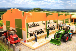 Bt8965 Twin Row Cubicle Shed Free Britains Link-A-Sweep! Farm Buildings & Stables (1:32 Scale)