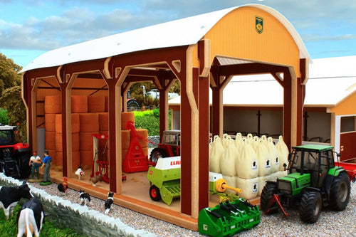 Bt8975 Dutch Hay Barn With Free Set Of Brushwood Dumpy Bags! Farm Buildings & Stables (1:32 Scale)