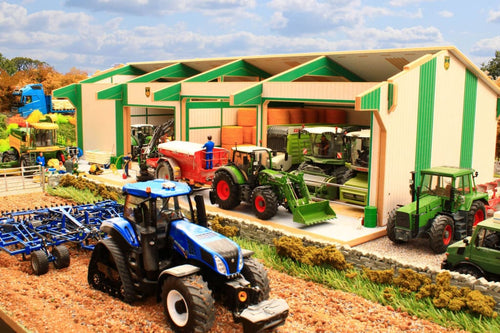 Bteuro4 Monster 4 Bay Shed In Euro Colours With Free Farmyard Diesel Tank! Farm Buildings & Stables