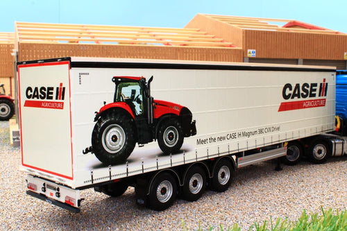 Mm1902-01-02 Marge Models Pacton Curtainside Trailer - Case Livery Tractors And Machinery (1:32