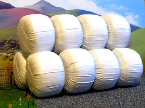 HLT-FB035W White Wrapped Silage Bales (White Wrapped)
