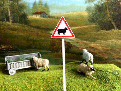 HLT-FBS04 Road Sign Post  - Sheep Warning