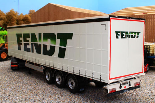 Mm1902-01-01 Marge Models Pacton Curtainside Trailer - Fendt Livery Tractors And Machinery (1:32
