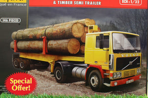HEL81704 HELLER 1:32 SCALE VOLVO F12-20 GLOBETROTTER LORRY KIT