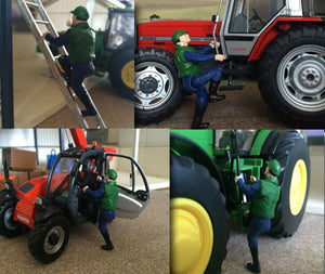 Hlt-Wm085 Climbing Tractor Driver Animals And Figures (All Scales)