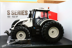 UH5242 UNIVERSAL HOBBIES VALTRA S SERIES TRACTOR IN WHITE WITH DUAL WHEELS