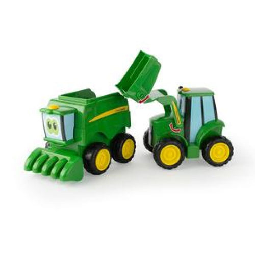 47193 BRITAINS JOHN DEERE FARMIN' FRIENDS TRACTOR AND COMBINE HARVESTER SET