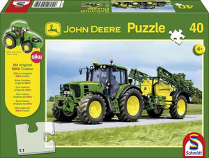 JS1541 Schmidt John Deere Tractor and Sprayer Puzzle 40PC