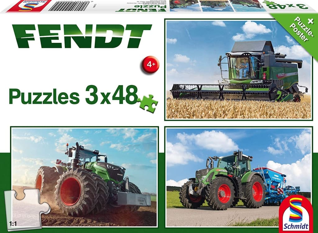 JS1553 Schmidt Jigsaw Puzzle - Fendt 1050 (3x48pc Set)
