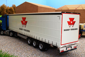 Mm1902-01-04 Marge Models Pacton Curtainside Trailer - Massey Livery Tractors And Machinery (1:32