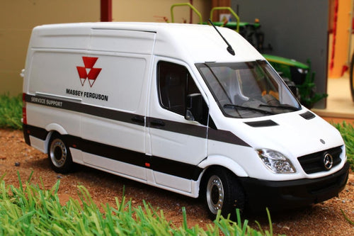 MM1905-01-02 MARGE MODELS MERCEDES SPRINTER VAN IN WHITE WITH MF LIVERY
