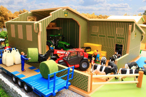 Bt8850 My First Farm Playset With Free Britains Mixed Animal Set! Buildings & Stables (1:32 Scale)