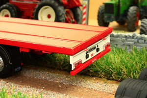 Mm1901-01 Marge Models Pacton Flatbed Lorry Trailer In Red Tractors And Machinery (1:32 Scale)